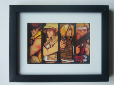 Metal Slug 3 Characters 3D Diorama Shadow Box